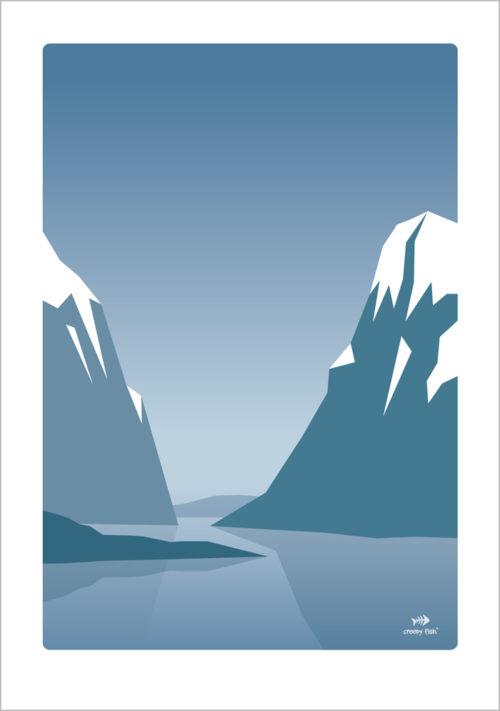 Twin Peaks - Norwegian mountains poster