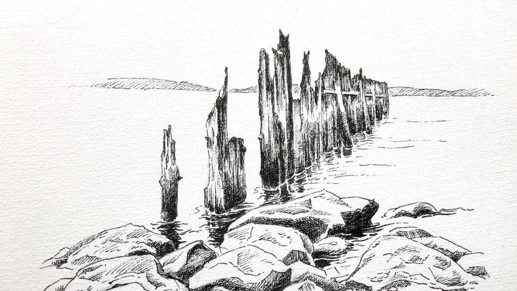 «Djevelens nerkjeft» – motiv fra Ranheimsfjæra i Trondheim