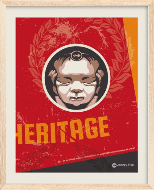 Heritage – Kunsttrykk fra Creepy Fish